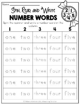 Number Words & Number Sense Printables and Activities: Numbers 0-10