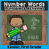 Number Words & Number Sense Printables and Activities: Numbers 0-10