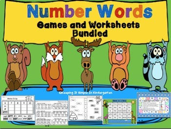Number Words: Printables and Games - Bundled
