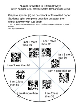 Number Words QR Code Game