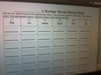 Number Words: Read, Spell, Write