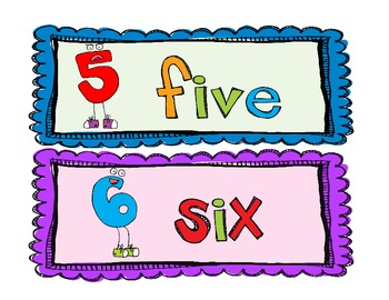 Number Words Signs