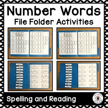 Spelling Number Words File Folder Activities