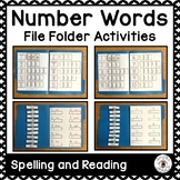 Spelling Number Words File Folder Activities