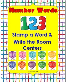 Number Words Stamp and Write the Room Centers