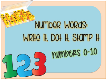 Number Words Stamping Center