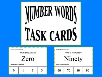 Number Words Task Cards