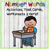 Number Words Task Cards Bundle