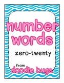 Number Words: Unit using words zero-twenty