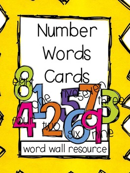 Number Words: Vocabulary Cards (Word Wall Resource)