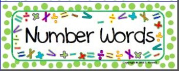Number Words - Word Wall