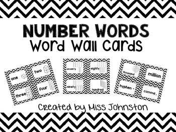 Number Words Word Wall Cards