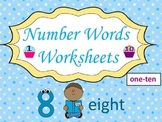 Number Words Worksheets (1-10):