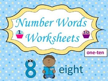Number Words Worksheets (1-10):