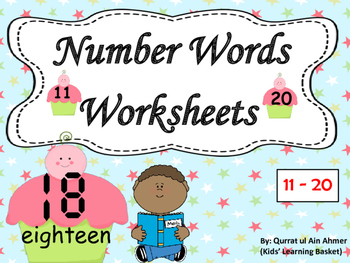 Number Words Worksheets (11-20):