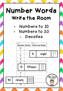 Number Words - Write the Room