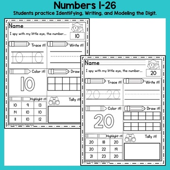 Number Words and Digits Worksheets