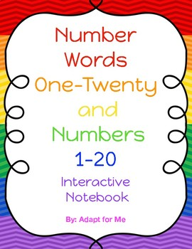 Number Words and Numbers Interactive Notebook