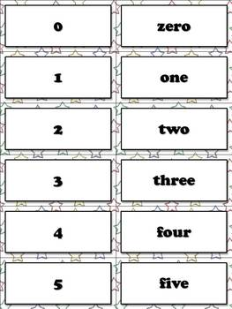 Number Words and Numerals Matching Sort Game - King Virtue