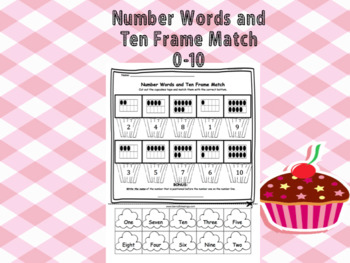 Number Words and Ten Frame Match (0-10)