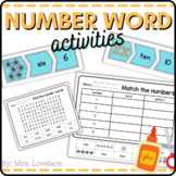 Number Words and Picture Matching: Cut and Paste 1-10