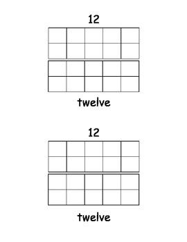 Number Words book 11-20