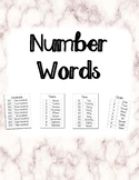 Number Words (ones, teens, tens, hundreds)