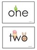 Number Words One to Ten, Eyewords Multisensory Flashcards/Wordwall Cards