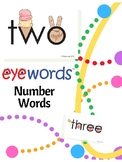 Number Words One to Ten, Eyewords Multisensory Flashcards/