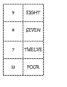 Number Words/digit dominoes