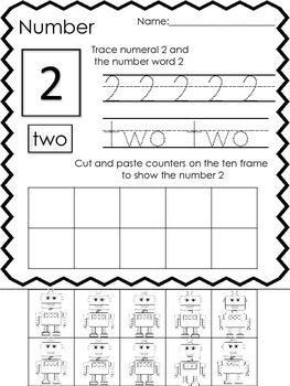 Number Work 1-10