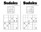 Number Work - Sudoku 4x4 and 6x6 - PreMade Half Pages - Logic / Problem Solving