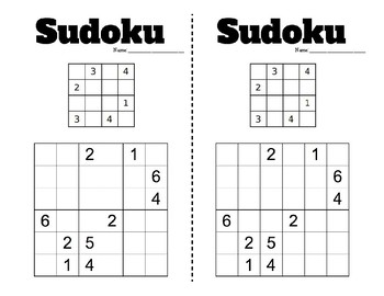 photograph relating to 6x6 Sudoku Printable known as Variety Energy - Sudoku 4x4 and 6x6 - PreMade 50 % Webpages - Logic / Scenario Resolving