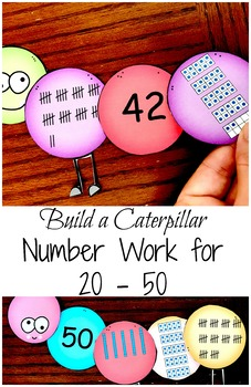 Number Work for numbers 21 - 50