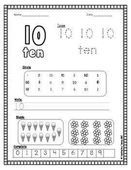 Number Workbook Numbers 10-20
