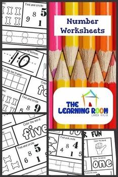 Number Worksheet 1-10