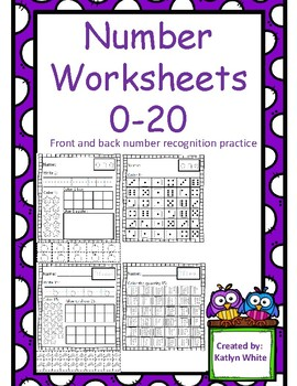Number Sense Worksheets 0-20