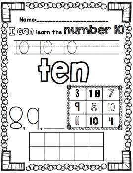 Number Worksheets #0-20
