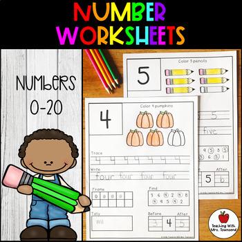 Number Worksheets 0-20
