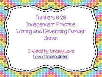Number Worksheets 0-20 {Build Number Sense and Handwriting Practice}
