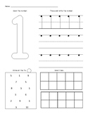 Number Worksheets (1 - 10)
