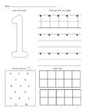 Number Worksheets (1 - 10)