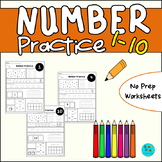 Number Worksheets - 1-10