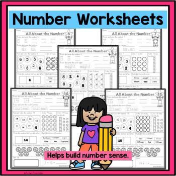 Number Worksheets 1 - 20