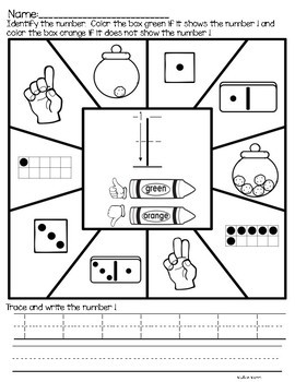 Number Worksheets 1-20