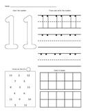 Number Worksheets (11 - 20)
