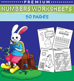 Numbers Worksheets for Preschool (50 Pages)