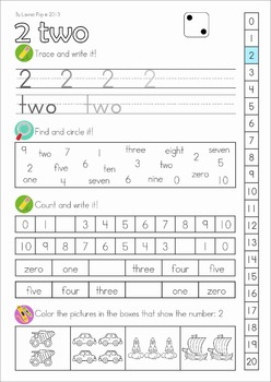Number Worksheets - All About Numbers 0-20 AUSTRALIAN Spelling