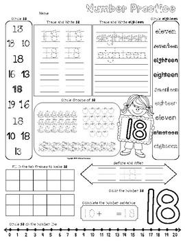 Number Worksheets FREEBIE