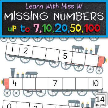 Missing numbers to 10 and 20 worksheets